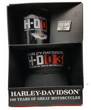 HARLEY DAVIDSON 100TH ANNIVERSARY PARTY PACK COFFEE MUG - HAT - VEST PIN