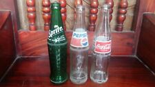 Lot of 3 glass bottles .. Empty bottle Sprite Coca Cola Pepsi .. Thailand