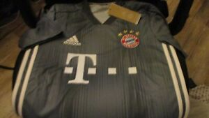 NWT $90 ADIDAS FC Bayern Munich SOCCER CLUB JERSEY SHIRT GRAY X-SMALL