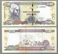 JAMAICA 500 DOLLARS, 2019, P-NEW, EXTRA FINE (EF)  BANK NOTE