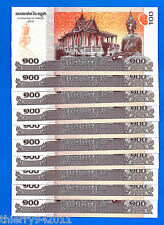 Cambodia Lot 10 X 100 Riels 2014 UNC Asia Free Shipping Worldwide