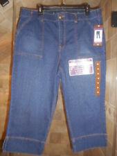 New! Gloria Vanderbilt Rhea Capri Comfort Waistband Denim Jeans Womens sz. 18