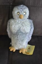 EUC Steiff Classic Pooh Owl 9.85 Inch Hang & Button Tags Attached 31/5000