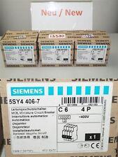 Siemens 5SY4406-7 Miniature circuit Breaker 5SY44 MCB circuit Breaker c 6 4P