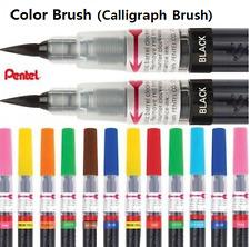 Pentel Arts Color Brush calligraphy Pens XGFL Full Set 18 Colors /Choose 4 Color