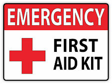 Emergency First Aid Kit Vinyl Sticker Decal Sign Health Safety Cross 2 Stickers