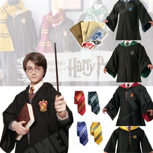 Halloween Harry Potter Gryffindor Cape Cloak Tie Cosplay Party Costume COS Xmas