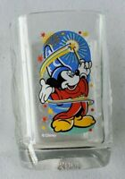 Mickey Mouse Walt Disney World Epcot Square Glass Cup 2000 McDonalds