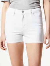 Bnwt m&s Denim Soft White Denim Shorts Größe 24