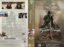WYATT EARP - Costner & Quaid -VHS - PAL -NEW -Never played! -Original Oz release
