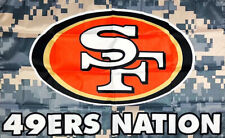 San Francisco 49ers Camo Man-Cave NFL Football Flag 3x5 ft Sports Banner Garage