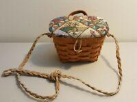 Longaberger 1994 Small Key Basket Made Into Kiddie Purse
