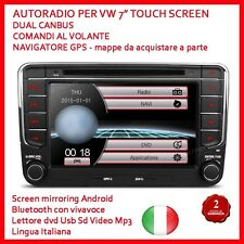 "AUTORADIO 2 Din 7"" Vw Golf Polo Touch - 2 din Navigatore /MP3/BLUETOOTH/GPS/DVD"