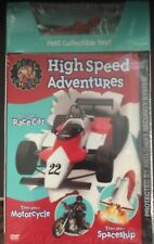 Real Wheels, High Speed Adventures (DVD 2004) with 1/64th Scale Race Car Toy (H)