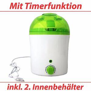 IQ-V Joghurtbereiter, Joghurtmaschine mit akustischem Timer & 2. Innenbehälter