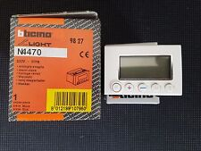 BTICINO N4470 Light orologio sveglia elettronico digitale LCD