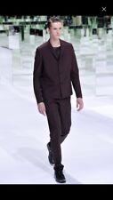 Dior Homme S/S14 by Kris Van Assche Suit Pants Runway Brown Black 46 Grail Slp