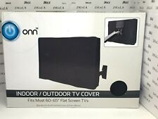 """New listing Onn Indoor Outdoor Tv Cover Fits Most 60 - 65"""" Flat Screen Tvs Weather Resistant"""