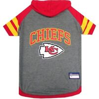 Kansas City Chiefs NFL Sporty Dog Pet Hoodie T-Shirt Sizes XS-L