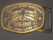 1985 National Jamboree Max Silber Belt Buckle    c23