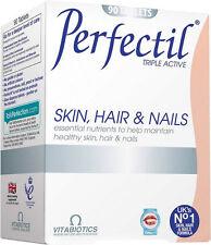 Vitabiotics Perfectil Triple Active Skin, Hair & Nails Tablets (90)