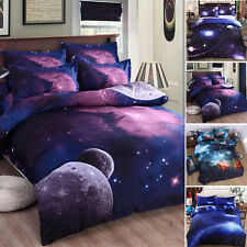 Modern 3D Bedding Galaxy Sky Bed Set Outer Space Single Queen Duvet Cover Soft