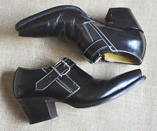 BOHO VINTAGE COWBOY ANKLE BOOT - BUCKLE DETAIL - MADE IN MEXICO - HARDLY WORN !