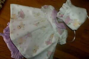 "OOAK    DRESS FOR A 14 "" REBORN  Precious Moments   3 PC."