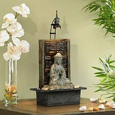 Lighted Buddha Water Tabletop Fountain Indoor Decor Waterfall Relax Feng Shui