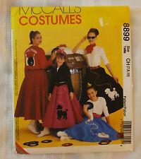 McCalls Pattern 8899 Children Costume 50s Hip Hop Poodle Skirt 7 to 10