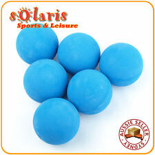 6x Slow Speed Racquetballs Light Blue Ball Low Compression for Recreational Use