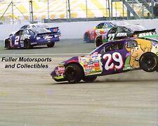 ROBERT PRESSLEY #29 SCOOBY DOO 1997 CRASH 8X10 PHOTO CARTOON NETWORK NASCAR CUP