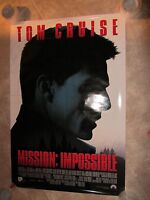 Mission Impossible movie poster Tom Cruise, Brian DePalma original movie poster