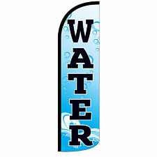 Water Banner Sign Flag Only Windless Swooper Feather Tall 3' Wide Blue Black