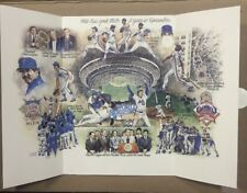 New York Mets A Year To Remember 1986 World Series Photo Lithograph Gary Carter