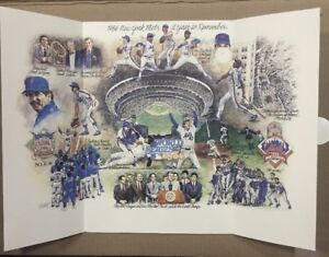 New York Mets 1986 World Series Photo Lithograph A Year To Remember Gary Carter