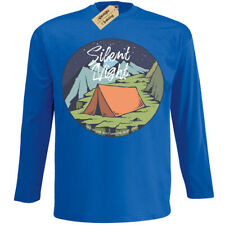 Silent Night T-Shirt Camp Zelt Camping Herren Langarm
