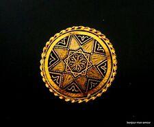 Sehr alte, antik Damaszierte Stern Brosche, Broche, Star damascene brooch,Spilla