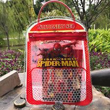 NEW Spiderman Children's Kids Stationery Set Pencils Ruler Eraser Sharpener Case