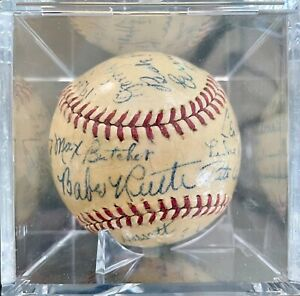 1938 Brooklyn Dodgers Team Signed Baseball | Autographed by Babe Ruth | RARE ⚾️