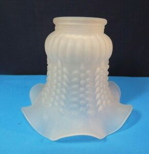 """Single Vintage Mini Blossom Lamp Shade 5.25"""" x 45"""" Opaque Frosted"""