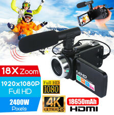 Professional 4K HD Video Camera Night Vision 18x HD 1080P Zoom Camcorder w/Mic