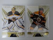 2016-17 Upper Deck Trilogy Boston Bruins Team Set of 2 Hockey Cards