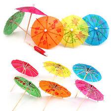 20 Mezclados papel cóctel paraguas sombrillas para Bebidas Fiesta Tropical Accesorios
