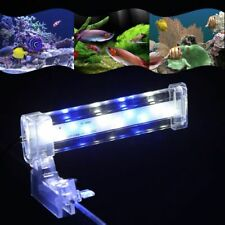 Aquarium LED Light Clamp Clip-on Lamp Fish Tank LED Bar Blue White Lighting Tube