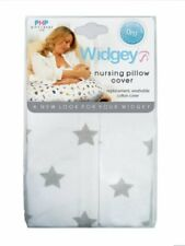 Widgey Nursing Pregnancy Maternity Pillow Spare Cover in Silver Star