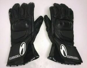 Black Richa WSS Leather Gloves Size Medium
