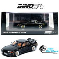 INNO64 NISSAN SKYLINE GTR R32 PANDEM (Black) Rocket Bunny 1:64 NEW