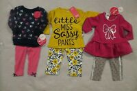 Baby Girls 2 Piece Outfit 6-9 9-12 12 Mo Top Leggings Sets NWT Nannette Piano