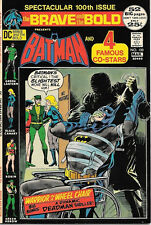 The Brave and the Bold Comic Book #100, Dc Batman and 4 Stars 1972 Vfn/Near Mint